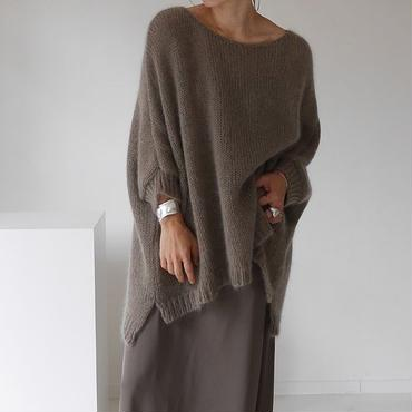 ※RESTOCK※KID MOHAIR WIDE COVER PULLOVER (COFFEE)