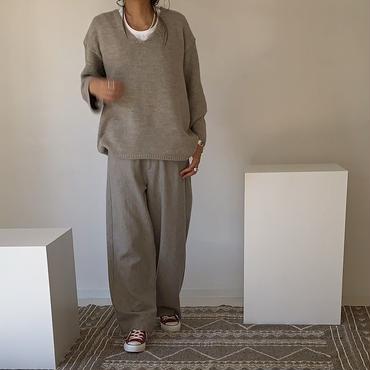 ※RESTOCK※WOOL FLANNEL MELLOW PANTS(STONE BEIGE)