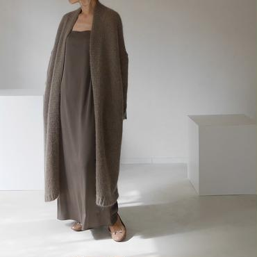 ※RESTOCK※KID MOHAIR WIDE COVER KNIT GOWN(COFFEE)