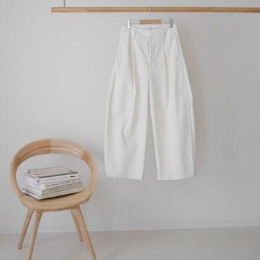 ■RESTOCK■PEACH BRUSHED COTTON TWILL BalloonSilhouettePants/WHITE