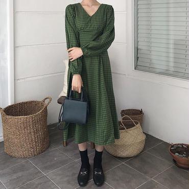 autumn color plaid dress