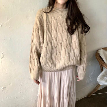 natural girly knit