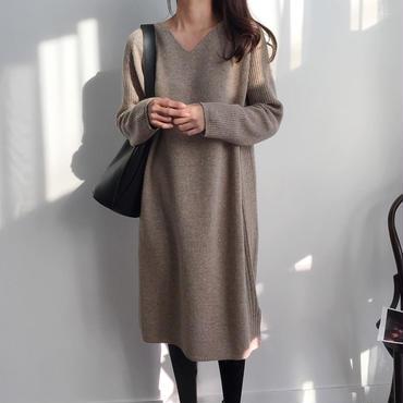 natural vneck dress