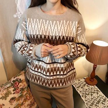 fair isle design knit