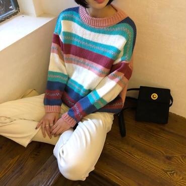 girly stripe knit