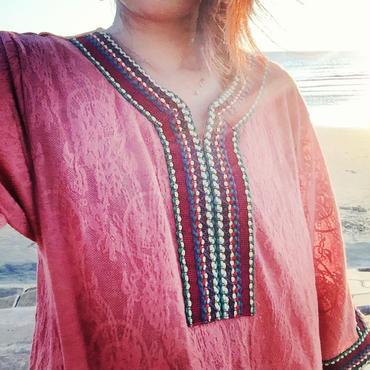 ジャガード織りたっぷりロングワンピース