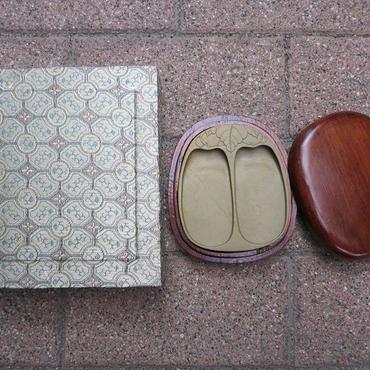 015 緑端渓二面硯【限定品】