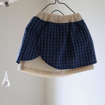 あじさいスカート  濃藍 80/110