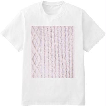 aka'aka ニットプリントTシャツ