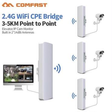Wi-Fi中継器 3~5km300Mbps CPE 2 *14dB LANアンテナ2.4GHz Wi-Fiリピータ RJ45 無線ブリッジ Poe 2個セット
