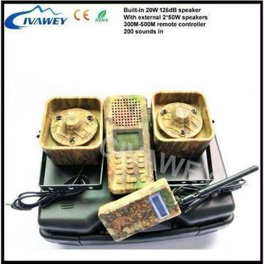 2*50 ワット 大声スピーカー 300メートル - 500メートル リモート 狩猟鳥発信者 アヒル ガチョウ firrie 音おとり mp3 プレーヤー