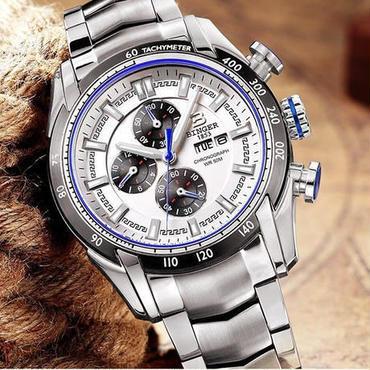 【送料無料】BINGER メンズ 腕時計 クロノグラフ 革 高級 デザイン 海外 人気 (02)