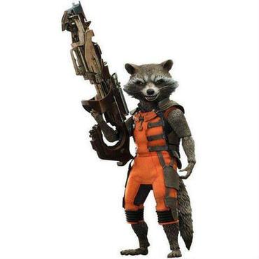 ガーディアンズ オブ ギャラクシー ホットトイズ フィギュア おもちゃ Marvel Movie Masterpiece Rocket Raccoon 1/6 Collectible Figure