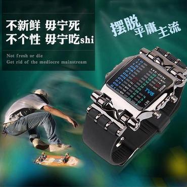 Tvg デジタル腕時計 スポーツ ラバーストラップ 防水