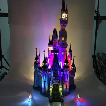 レゴ 71040相当 プリンセス シンデレラ城 互換品(イルミネーションライト付) ディズニー 大容量4080ピース Disney