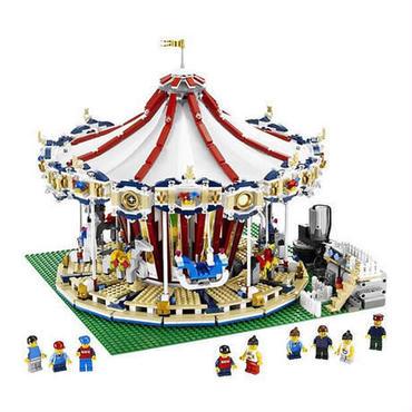 レゴ 10196 クリエイター 鳴る!動く!メリーゴーランド 互換品 海外製品 知育玩具 誕生日 プレゼント