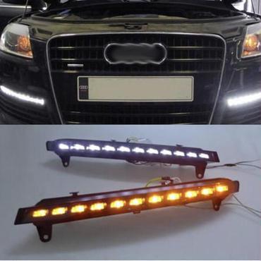 アウディ Audi Q7 2007-2011 LED DRL デイライト ポジションライト