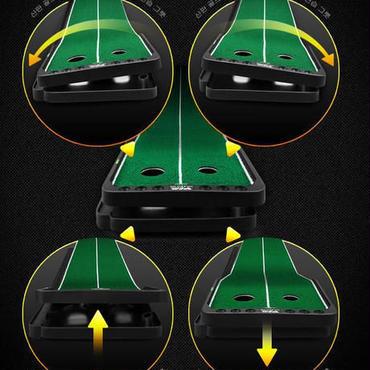 スロープ調節可能!パターマット パター パット練習マット パッティング 室内 ゴルフ ●初心者から上級者まで!