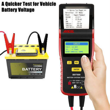 【送料無料!】 BST500 12V& 24V クルマのバッテリーテスター 自動車診断ツール サーマルプリンター内蔵 [ANCEL] 【新品】
