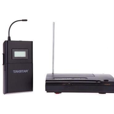 Takstar 200 WPM UHF ワイヤレス モニター システム 50 m 伝送距離のインイヤー式ヘッドフォン ステレオ ヘッドセット送信機 受信機液晶