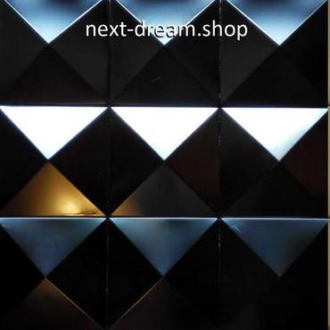 3D壁紙 30×30cm 11枚セット 金属タイル 黒 ピラミッド型 DIY リフォーム インテリア 部屋/キッチン/トイレにも h04414