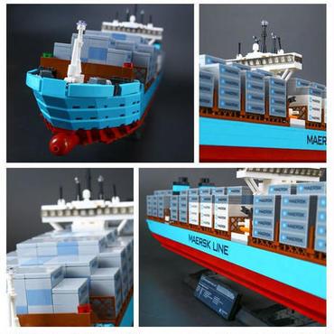 レゴ互換品 クリエイター マースクライン トリプルE 10241 貨物コンテナ船 セット