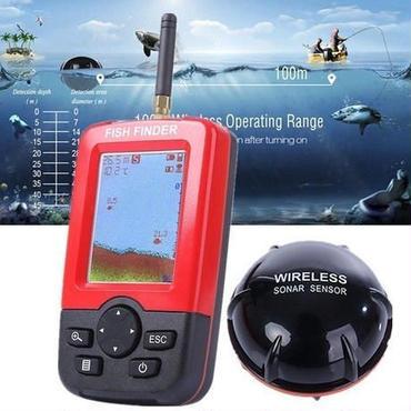 T132 魚群探知機 充電式 ポータブル フィッシィング ファインダー ワイヤレス ソナー センサー ディスプレイ