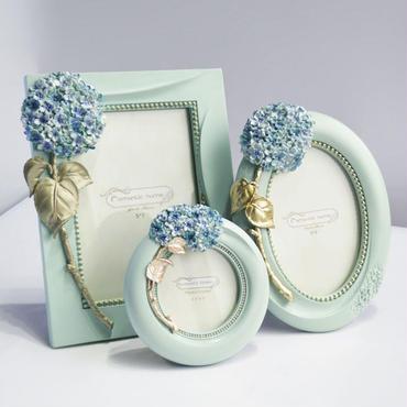 フォトフレーム 写真立て 3点セット アジサイ 紫陽花 ギフト プレゼント お祝い 結婚祝い 出産祝い 進学祝い等に