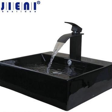 OUBONI 洗面ボウル 洗面ボール 洗面器 手洗い鉢 陶器製 混合弁 スクエア 51.0cm
