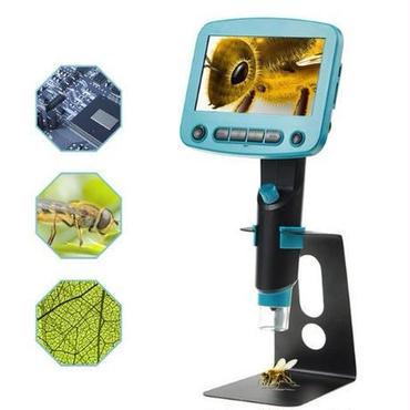 800×USBデジタルLCD顕微鏡 4.3インチHD OLEDポータブル8 LED 電子顕微鏡 緻密な作業におすすめ