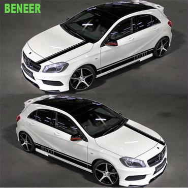 メルセデスベンツ用 ステッカー ボディ サイド 4点セット Mercedes benz ボンネット リア