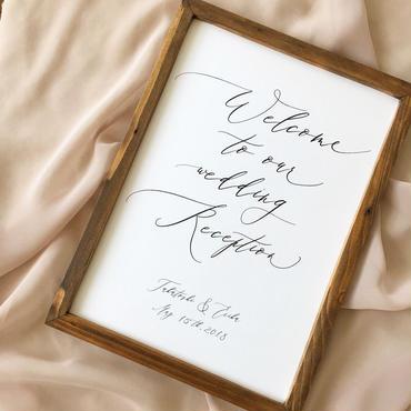 《A3》ウェルカムボード(Calligraphy)
