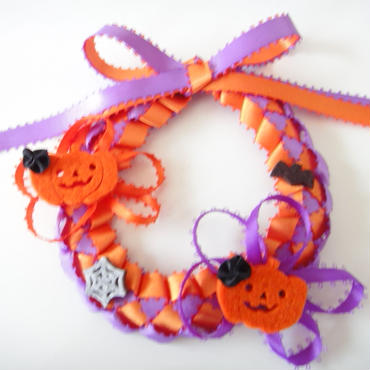 Halloween Pumpkin Mini Wreath