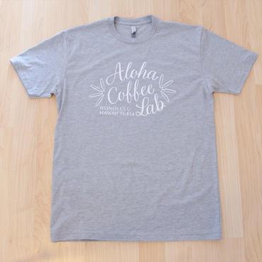 日本初上陸★アロハコーヒーラボ オリジナルTシャツ (グレー)Made in Hawaii