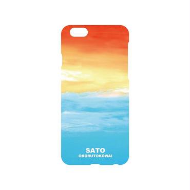 空と海iphoneケース白 5.5S.SE.6.6S