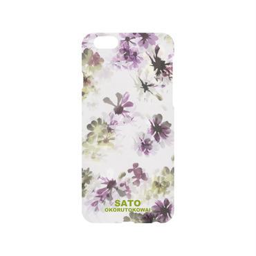 スミレの花iPhone ケース白  5.5S.SE.6.6S