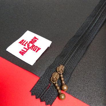 エピペン用ポーチご予約【黒無地ラミネート黒ファスナー】