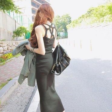 スリム&ロングワンピース 韓国ファッション