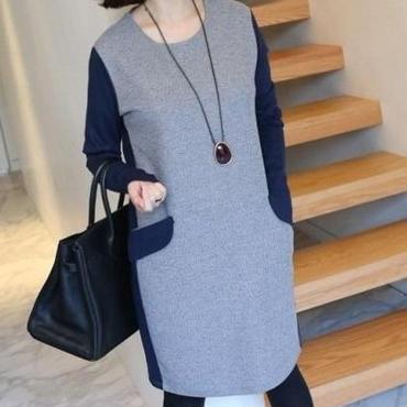 大人かわいい コットンワンピース 韓国ファッション