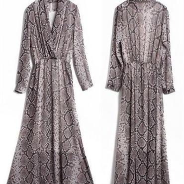 シフォン ボヘミアン マキシワンピース 韓国ファッション