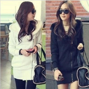 ロングパーカー ジップアップタイプ 韓国ファッション