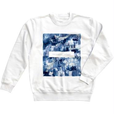 「巡る」スウェット / 005 (藍/white)
