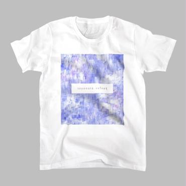 「巡る」Tシャツ / 青藤 (white)