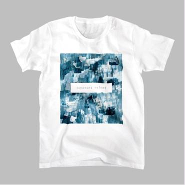 「巡る」Tシャツ / 緑 (white)