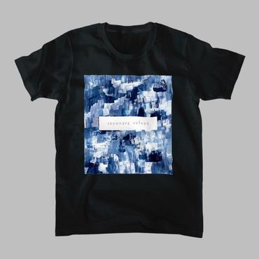 「巡る」Tシャツ / 藍 (black)