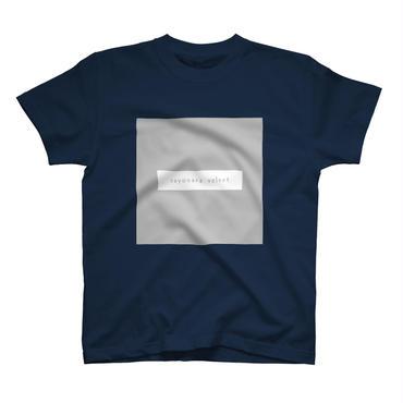 「スクエア」Tシャツ / 005 (navy)