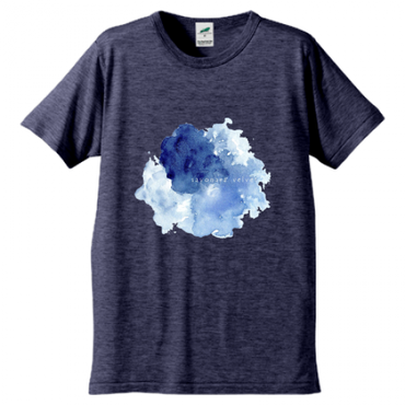 「ゆらぎ」Tシャツ / navy