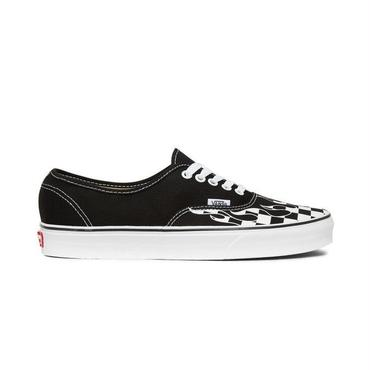 "VANS AUTHENTIC ""CHECKER FLAME"" / BLACK_WHITE"