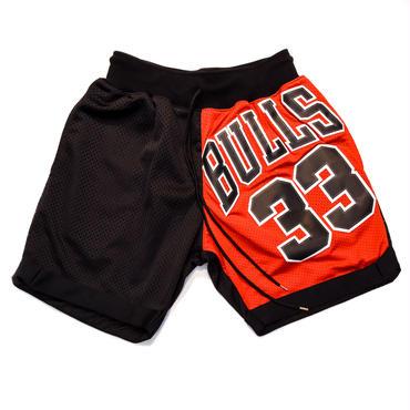 NBA UNIFORM REMAKE BASKET SHORTS / BULLS 33 / リメイク / バスケショーツ