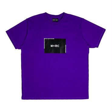 "M+RC NOIR BOX LOGO ""STITCHED"" TEE / PURPLE"
